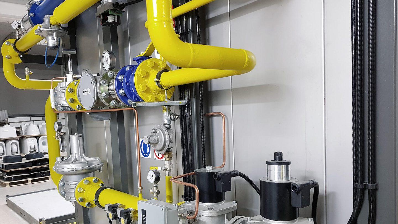 impianti di combustione EN476 per forni