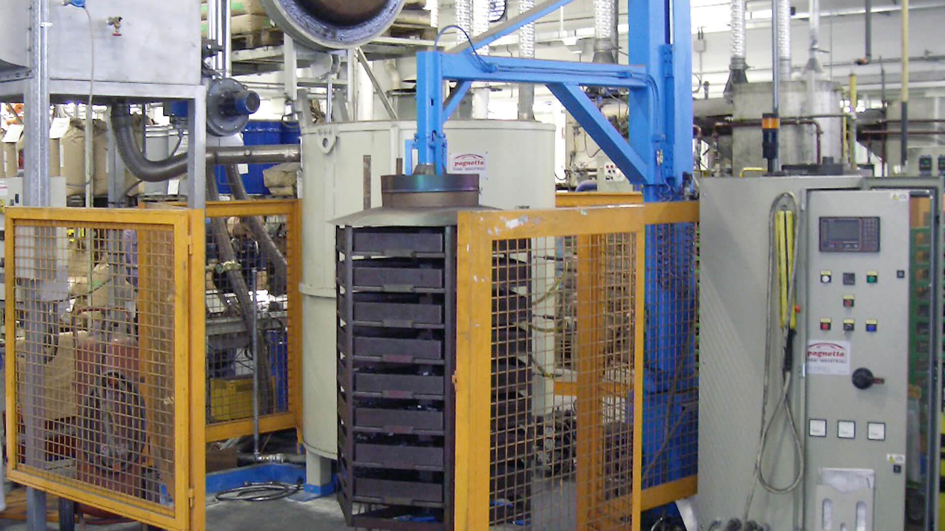 Forno industriale per Forno a pozzo con sistema di caricamento automatico | Pagnotta Termomeccanica