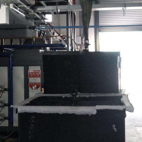 Forno per grafite e Carbonio con post-combustore per trattamento fumi | Pagnotta Termomeccanica