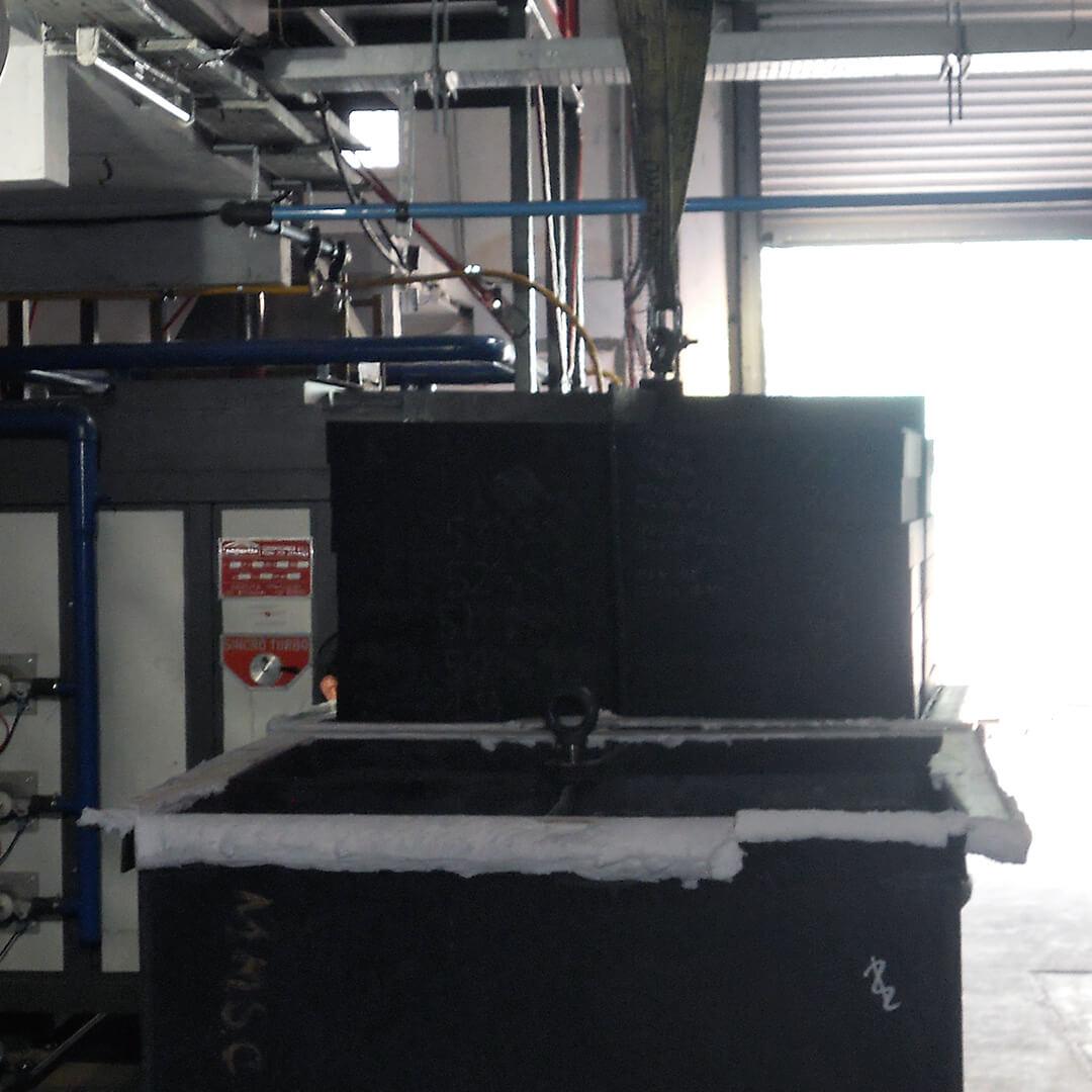 Forno industriale per Forno per grafite e Carbonio con post-combustore per trattamento fumi | Pagnotta Termomeccanica