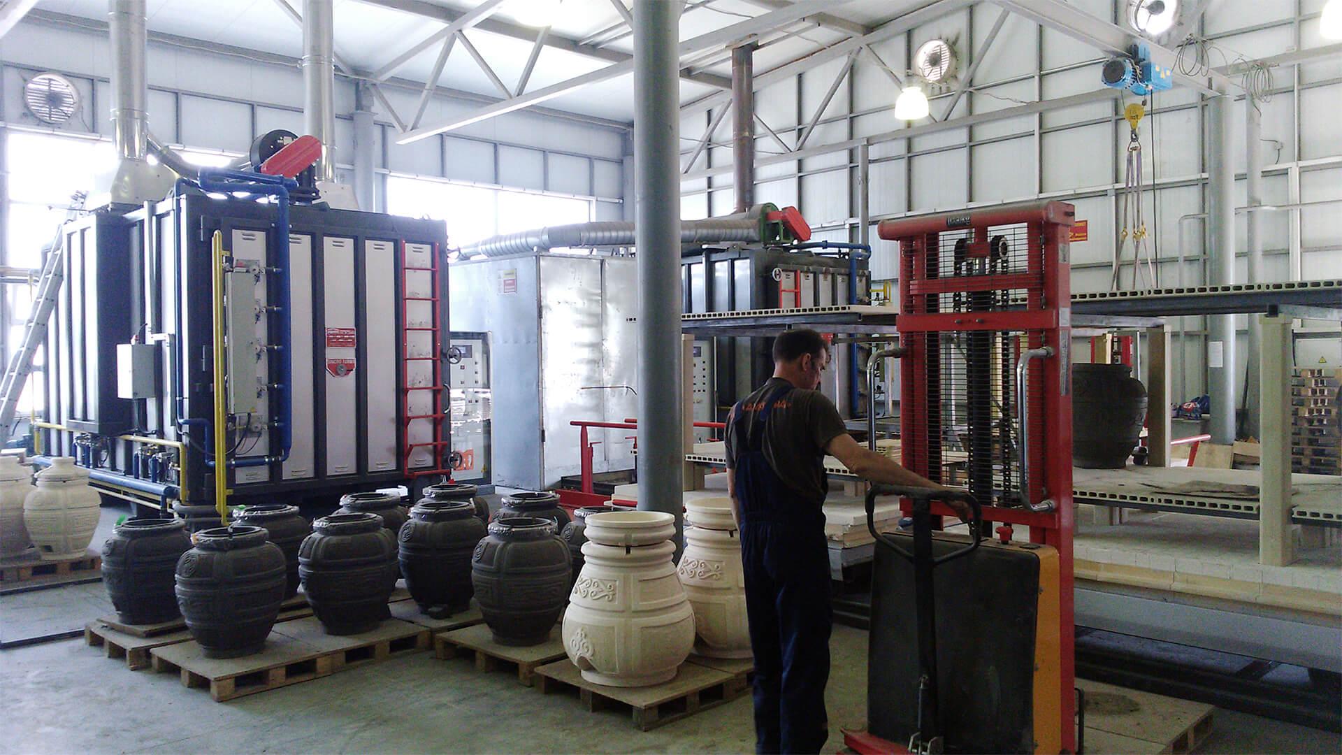 Forno industriale per Forni per produzione anfore in terracotta   Pagnotta Termomeccanica
