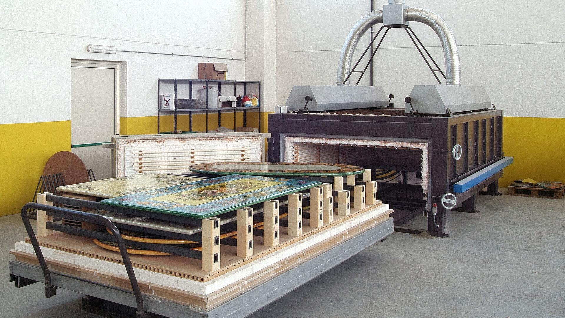 Forno industriale per Forno elettrico a carro per cottura pietra lavica (monocottura e bicottura) | Pagnotta Termomeccanica