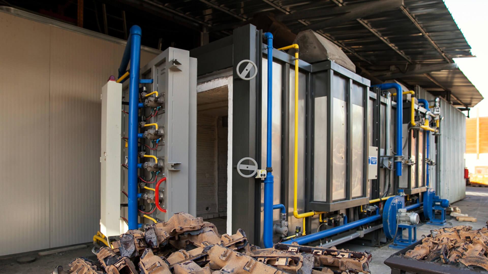 Forno industriale per Forno a carro per ricottura ghisa | Pagnotta Termomeccanica