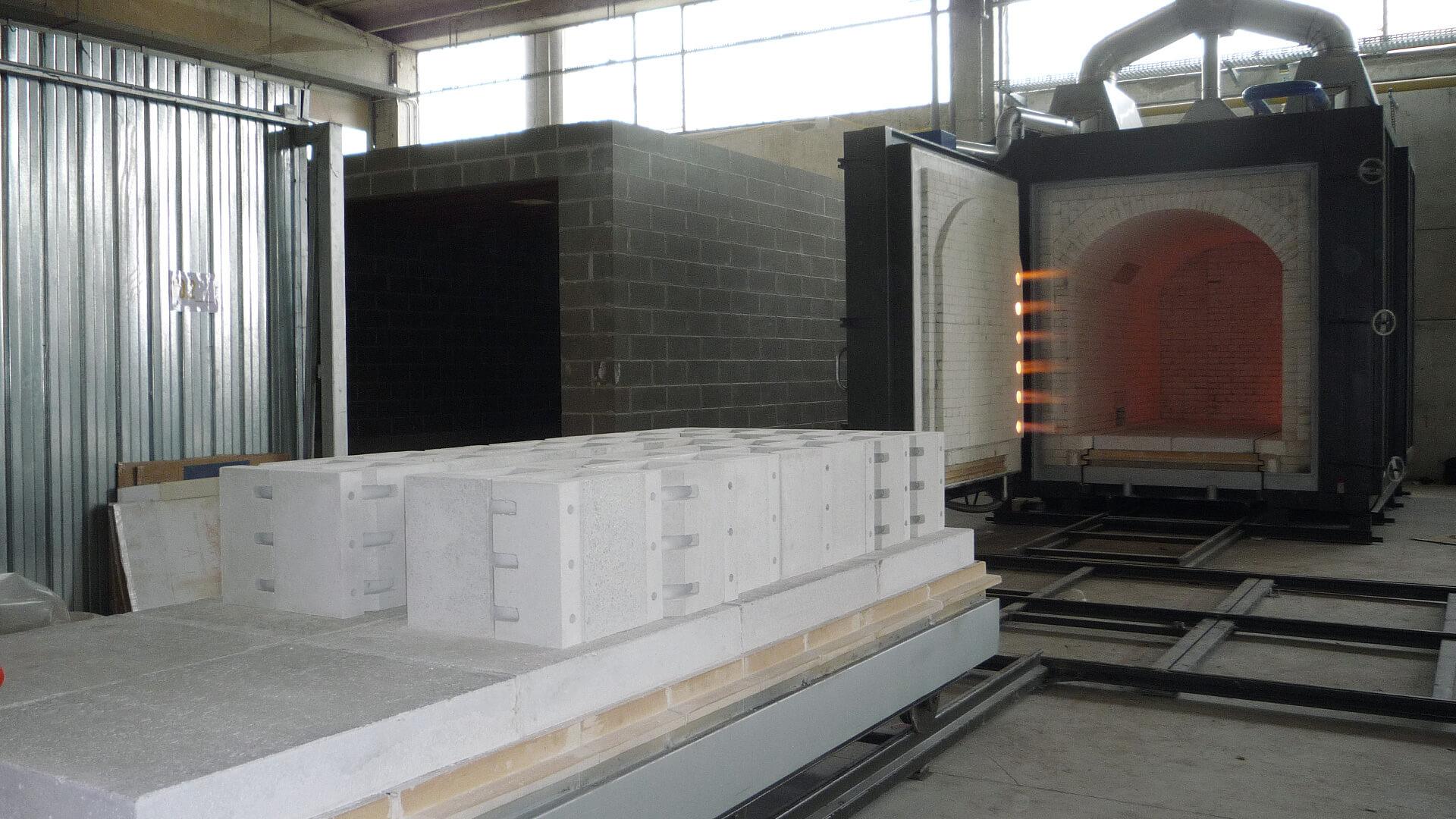 Forno industriale per Forno con isolamento in mattoni porosi refrattari | Pagnotta Termomeccanica