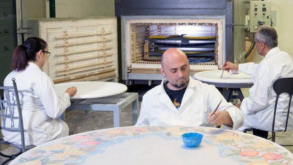 Forno per cottura di tavoli in pietra lavica ceramizzata modello FFEC/BT/PL | Pagnotta Termomeccanica