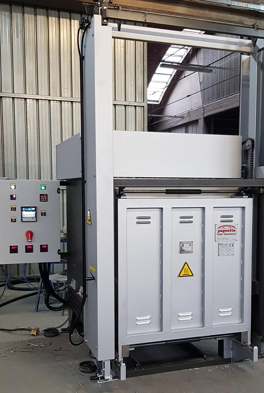 Forno industriale per Bogie Hearth Furnace with automatic sash vertical door | Pagnotta Termomeccanica