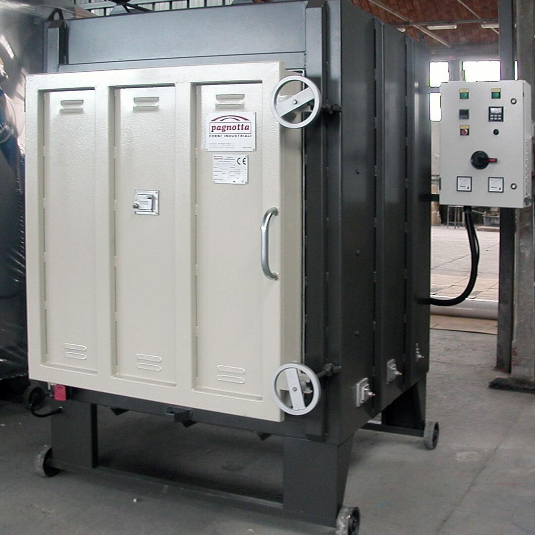 Forno industriale per Forno da trattamento termico a suola fissa a riscaldo elettrico | Pagnotta Termomeccanica