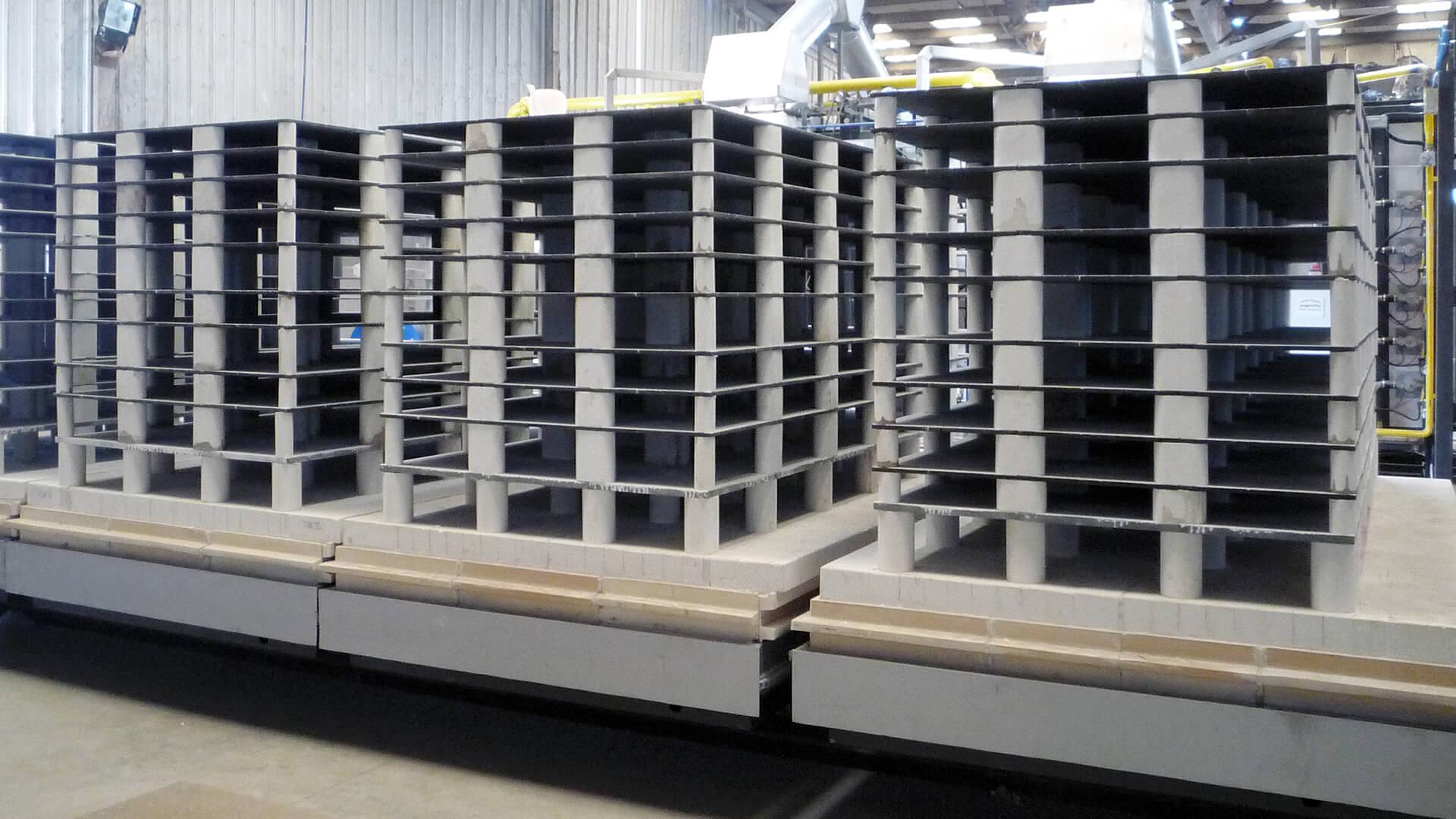 Forno industriale per Sovrastruttura refrattaria in carburo di silicio e mullite | Pagnotta Termomeccanica