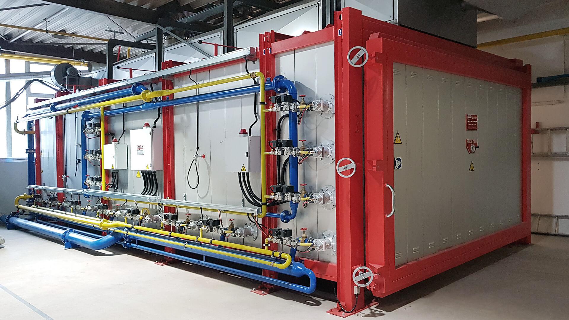 Forno industriale per Impianto di combustione Kromschröder | Pagnotta Termomeccanica