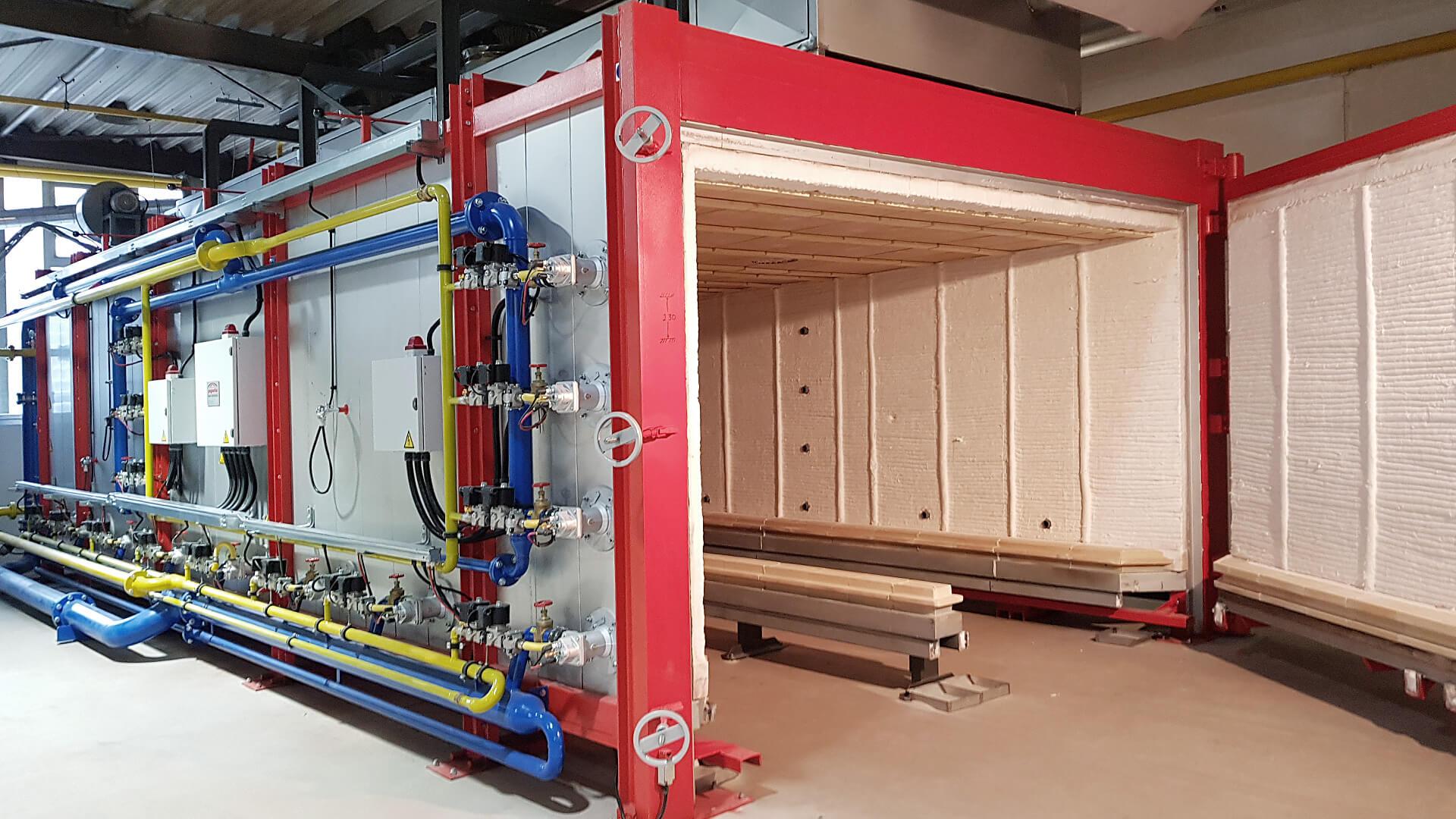 Forno industriale per Interno forno a gas | Pagnotta Termomeccanica