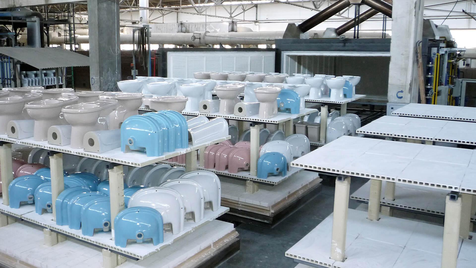 Forno industriale per Forni intermittenti per sanitari | Pagnotta Termomeccanica
