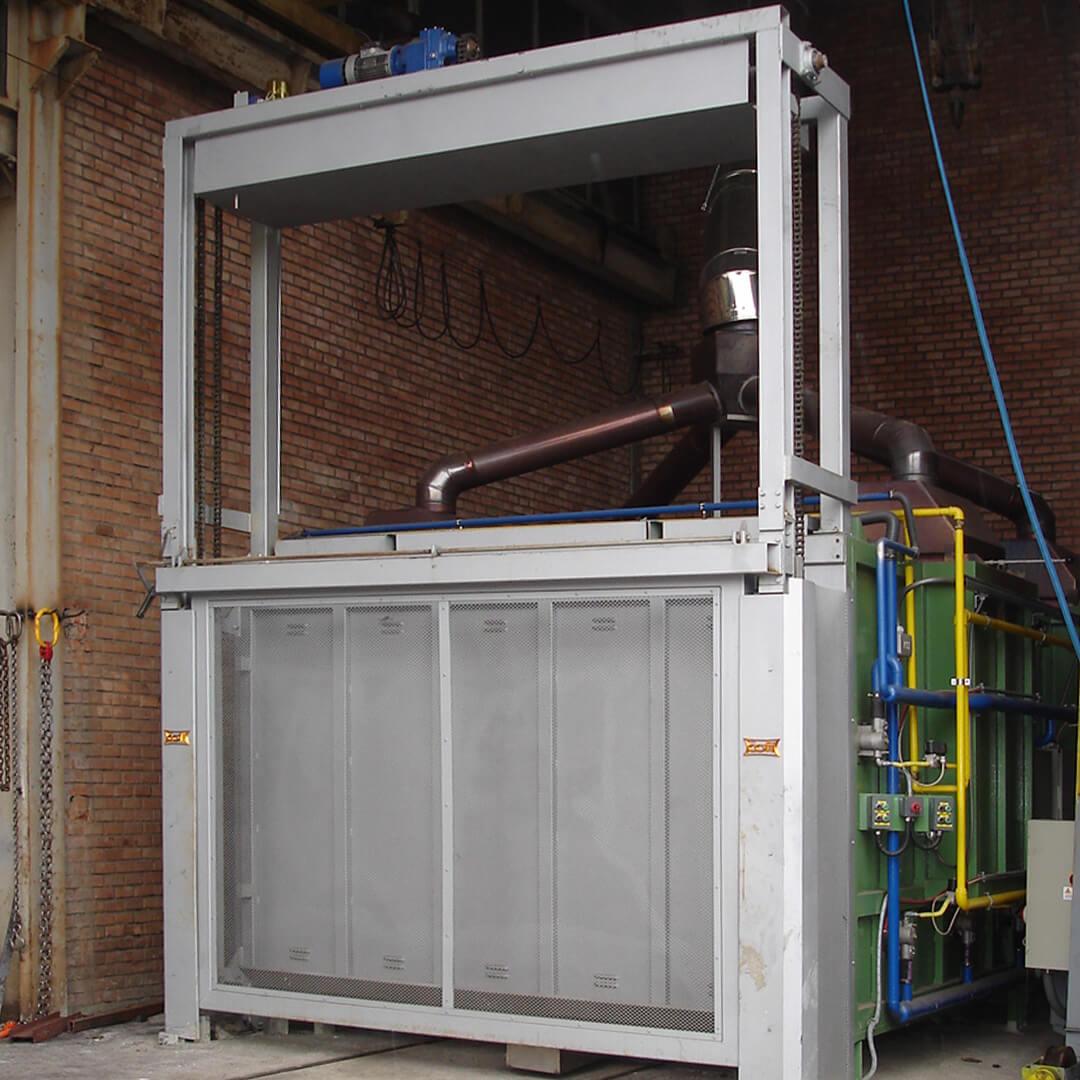Forno industriale per Forno a carro a combustione (metano/GPL) per normalizzazione acciai | Pagnotta Termomeccanica