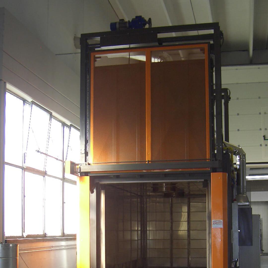 Forno industriale per Forno a gas a circolazione forzata | Pagnotta Termomeccanica