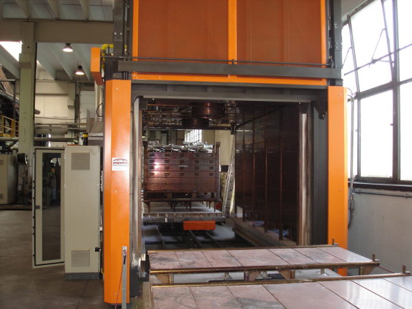 Gas car-bottom furnace with air circulation | Pagnotta Termomeccanica