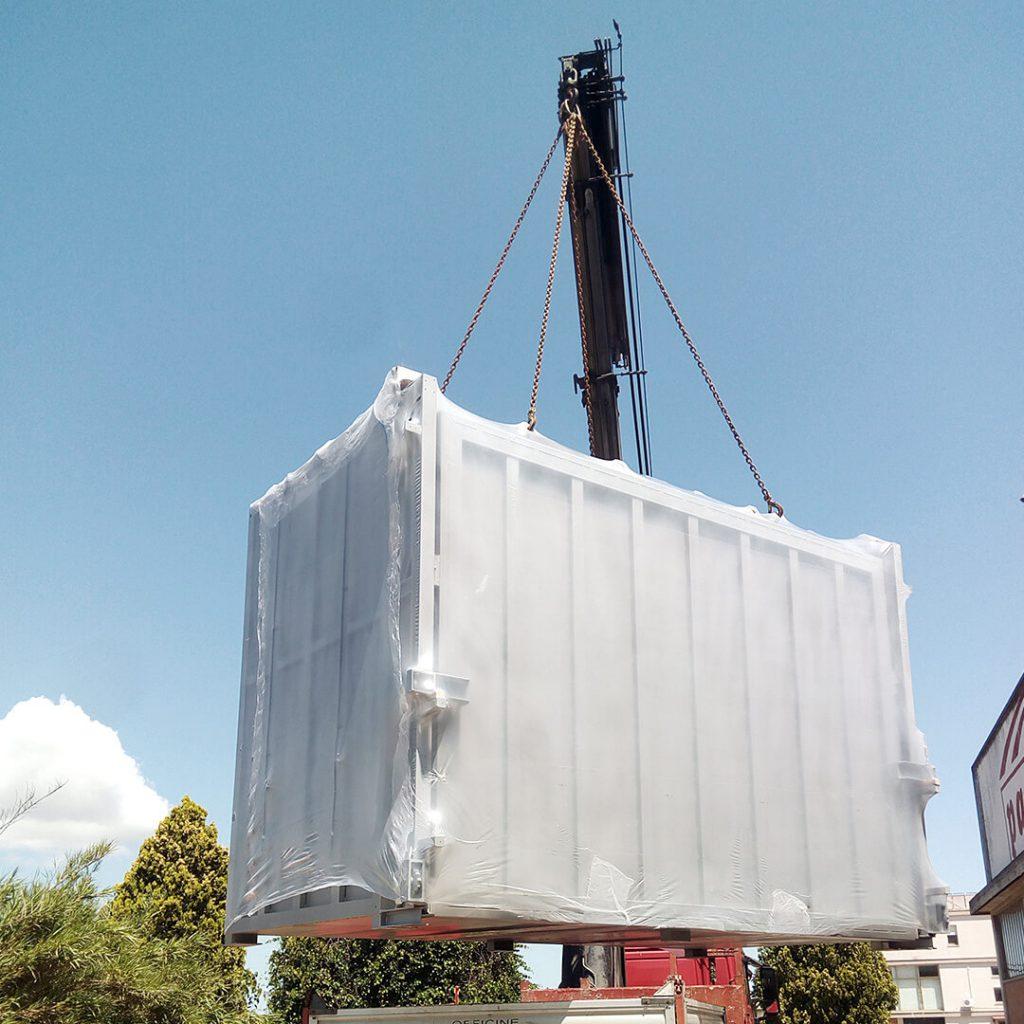 kiln lifting by crane - Pagnotta Termomeccanica