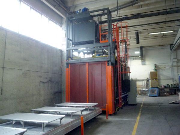 Forno da sterratura con post-combustore (TPC) per abbattimento SOV | Pagnotta Termomeccanica