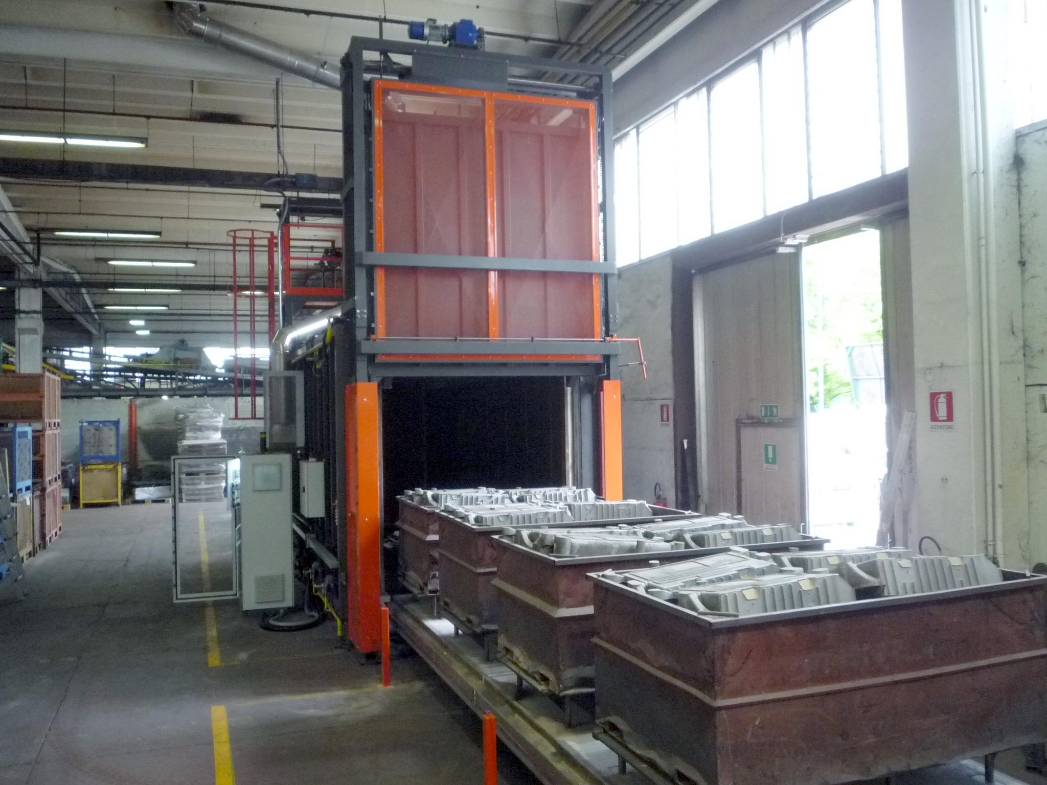 Forno industriale per Forno da sterratura con post-combustore (TPC) per abbattimento SOV | Pagnotta Termomeccanica