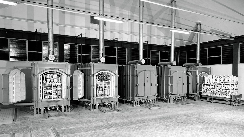 foto storica forni azienda ceramica
